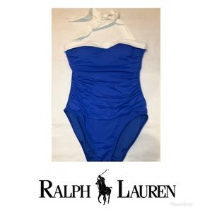 Ralph Lauren Blue One Piece Swimsuit Size 6